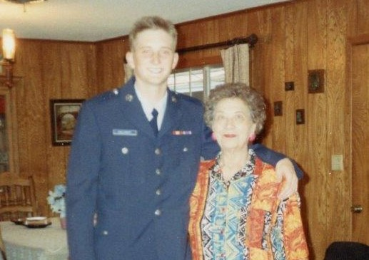 Dr. Shayne Gallaway with his grandmother.