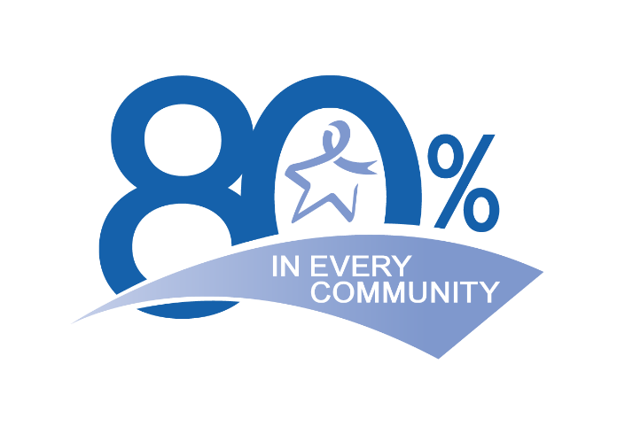 80 percent in every community