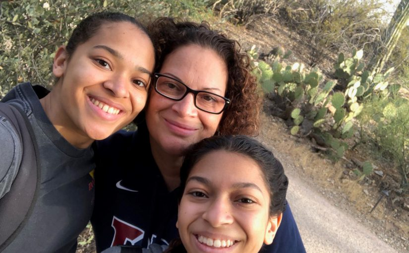 Robin Soler with her daughters