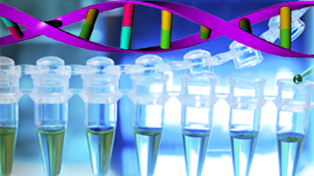 test tubes and DNA