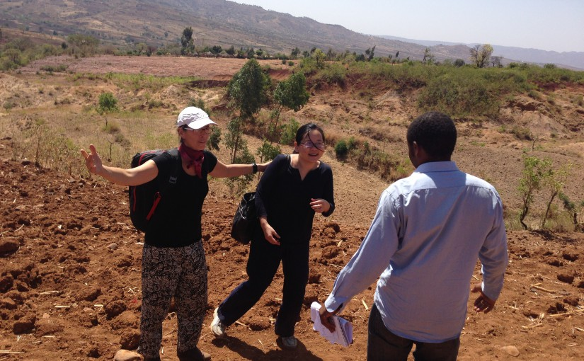 Working alongside an EIS officer and an FETP resident on an investigation in Konso, Ethiopia, 2015.