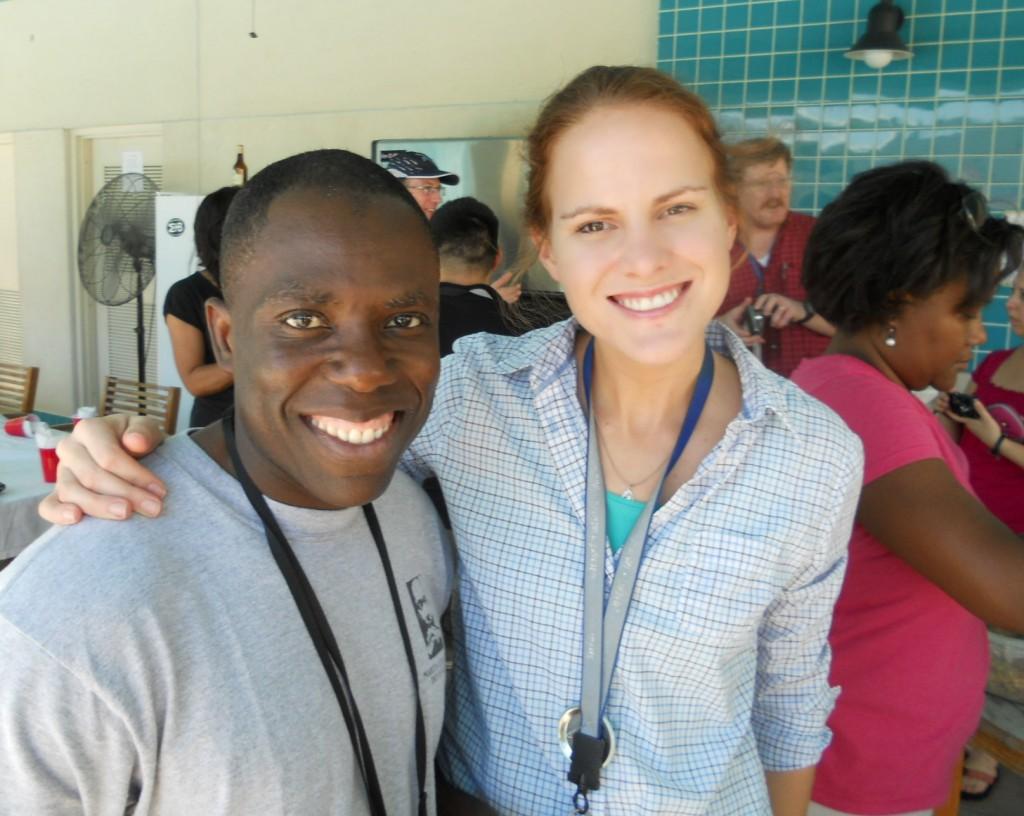 Emily McCormick posing with CDC Public Health Advisor Sylvera Demas.