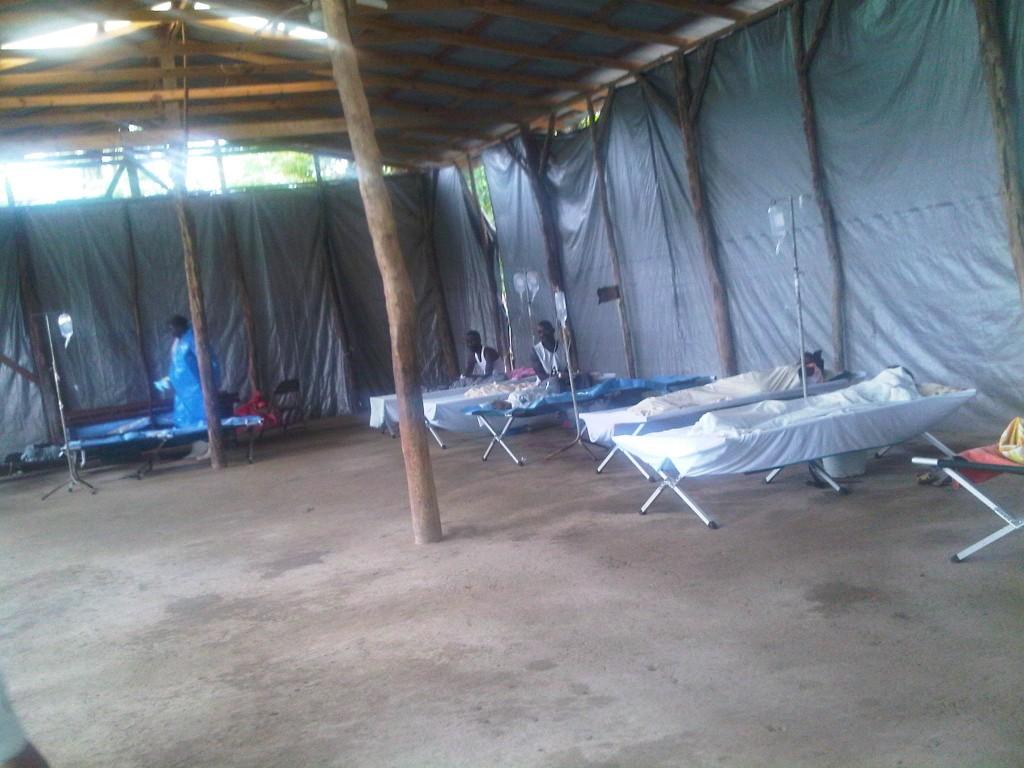 Cholera treatment center.