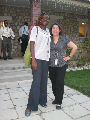 Araceli Rey and CDC Public Health Advisor Paris Ponder