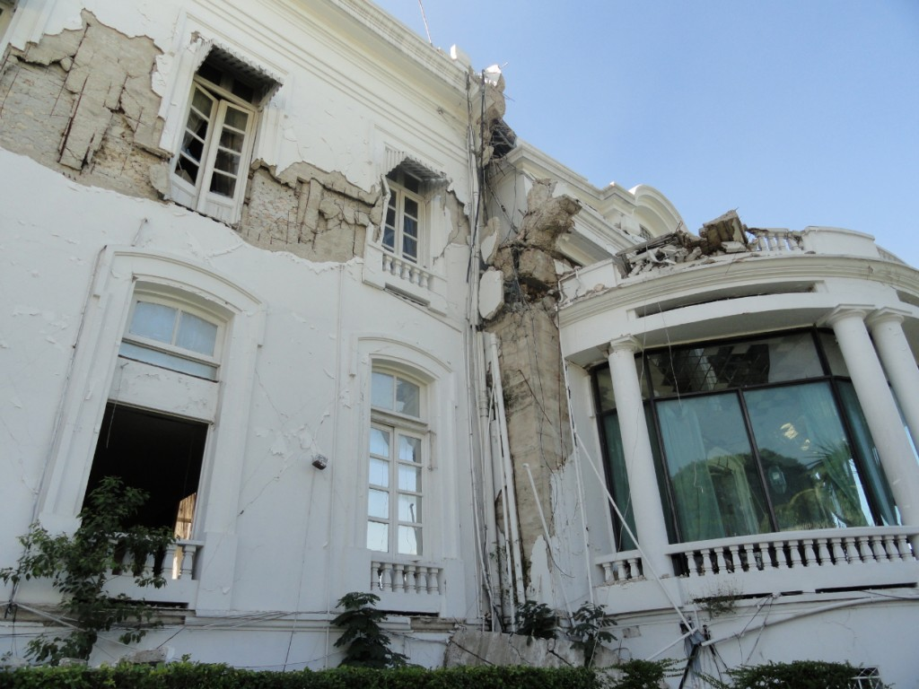 The Presidential Palace was heavily damaged in the January 2010 quake