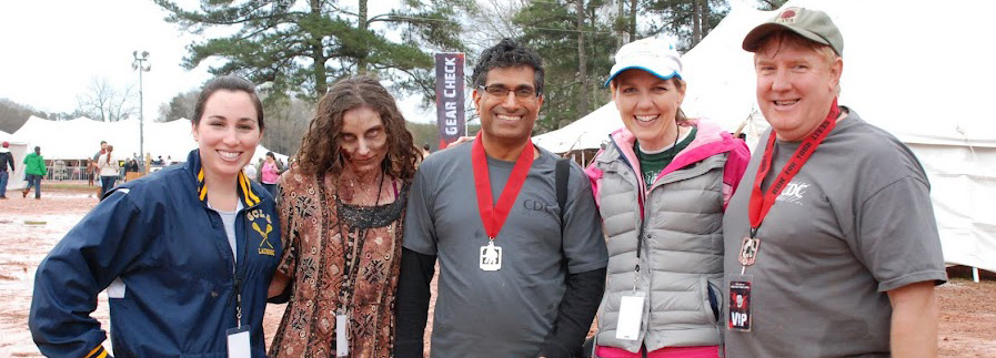 CDC staff after zombie race