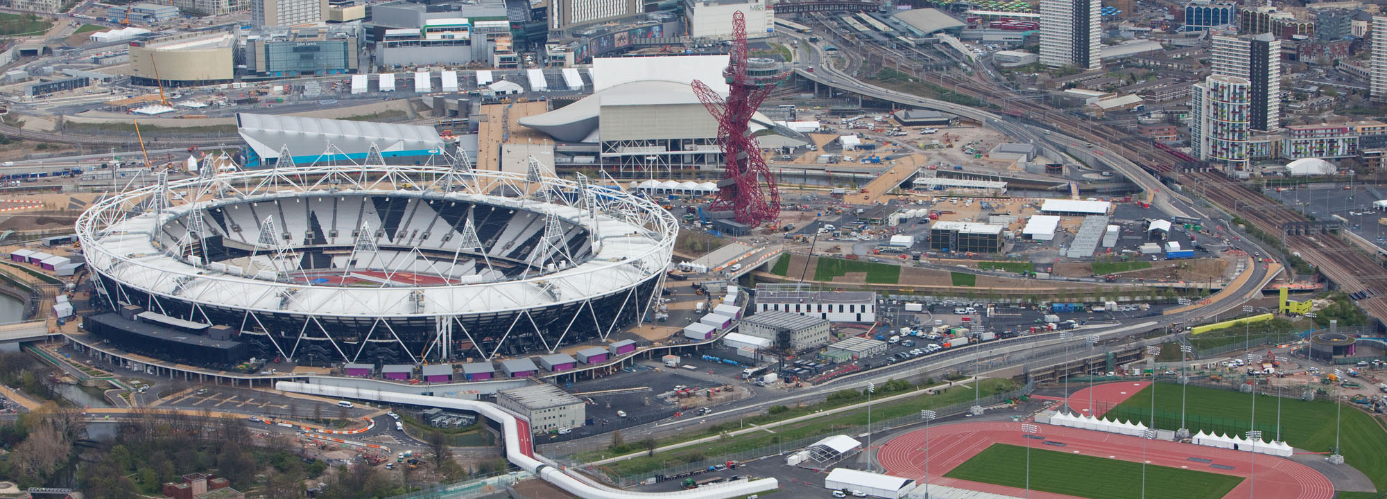 Aerial view of Olympic Stadium in London