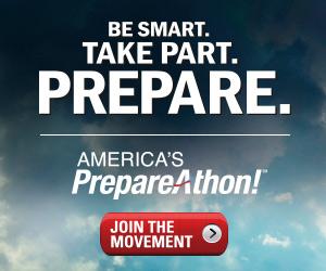 Be Smart. Take Part. Prepare. America's PrepareAthon logo