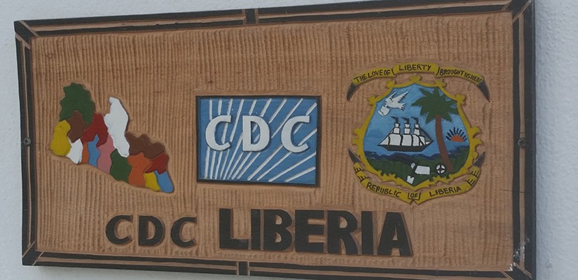 CDC country office sign in Liberia