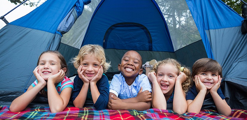 Kids on a camping trip