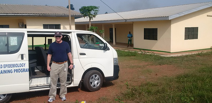 Tom Jackson at the Cameroon Ebola Treatment Center,