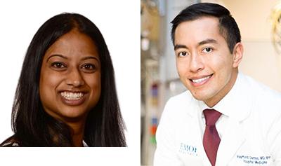 Dr. Runa Gokhale and Dr. Raymund Dantes
