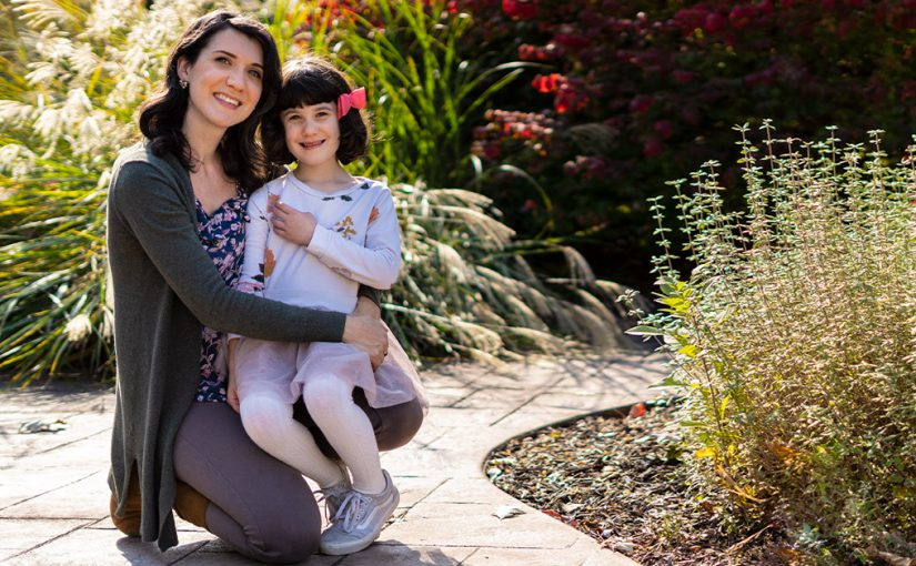 Christina Fuhrman with her daughter.