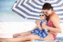 Sunscreen and sunglasses can be used to protect you from UV radiation.