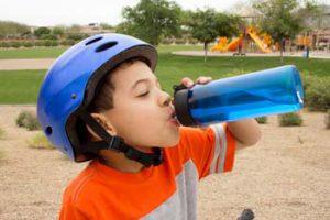 Drink plenty of fluids to prevent heat-related illnesses.