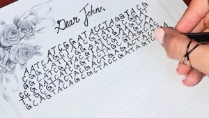 a Dear John letter being written with sequencing as the content