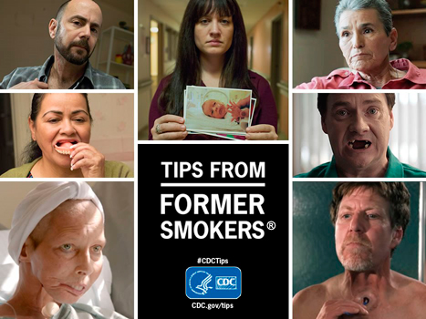 Tips from Former Smokers with images of different people