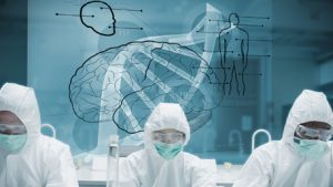 lab workers and DNA