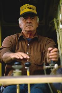 man operating machinery