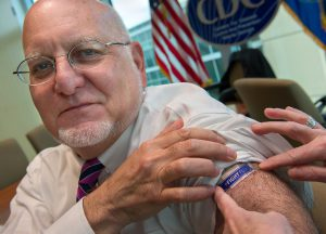 Dr. Redfield gets his flu shot.