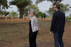 Dr. Ann Schuchat visiting the Disco Hill cemetery in Liberia where many victims of the Ebola outbreak are buried.