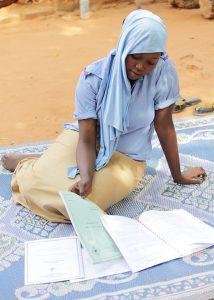 Rahinatou Hamidou Amadou continues with her studies after surviving meningitis.