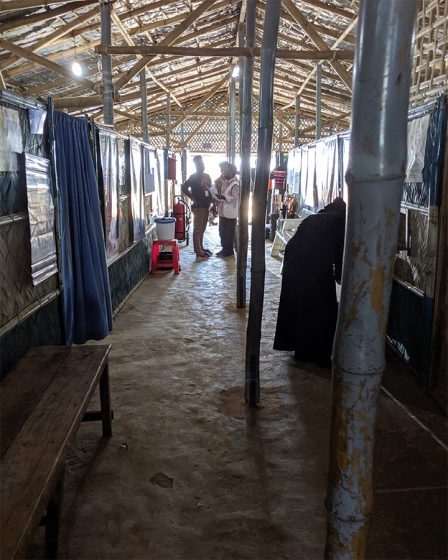 Primary Health Center in Rohingya Refugee Camp. Photo by: Rachael Zacks