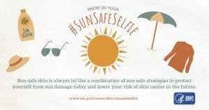 sun safe selfie graphic