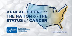 Annual Report to the Nation on the Status of Cancer; map of U.S.