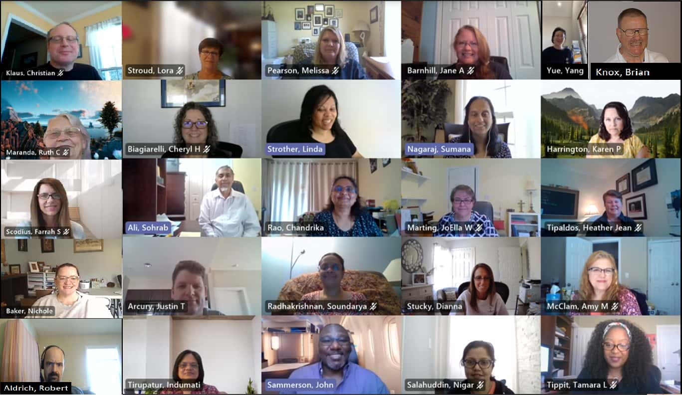 North Carolina Central Cancer Registry team met virtually during the pandemic to look at details of cancer patients who tested positive for COVID-19.