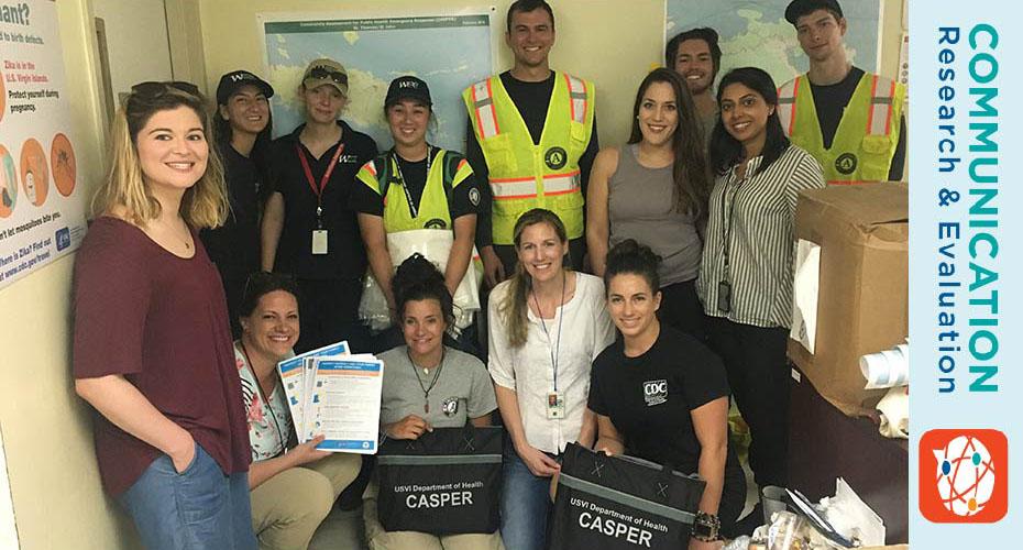 Group photo of a Community Assessment for Public Health Emergency Response (CASPER) Team in the U.S. Virgin Islands.