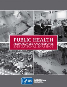 Photo of the cover of the Public Health Preparedness and Response 2018 National Snapshot report.