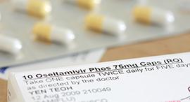 Package of Oseltamivir (i.e., Tamiflu) capsules