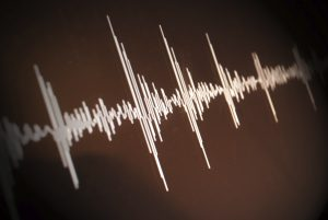 Graphic depicting earthquake waveforms
