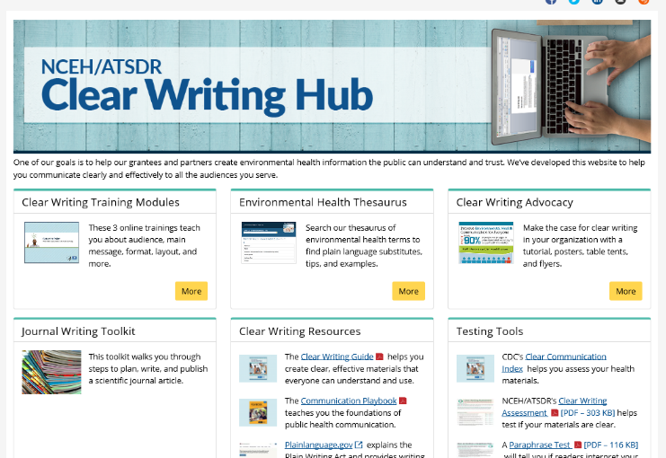 Clear Writing site