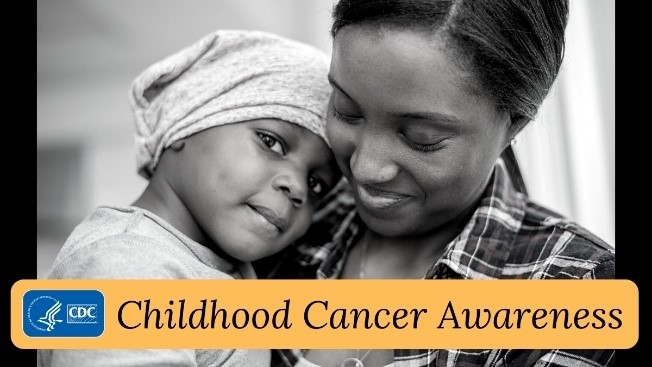 Childhood Cancer Awareness. A mother holding her child.